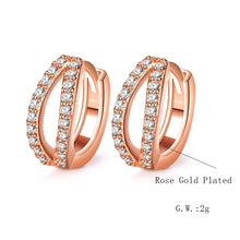 Beautiful zircon hoop earrings china wholesale earrings - QJ jewelry