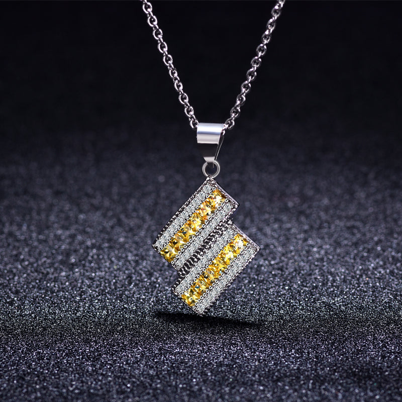 CKN004 Lightning design brass necklace beautiful women jewelry - QJ jewelry