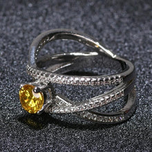 2018 engagement wedding special design Zircon rings for couple - QJ jewelry
