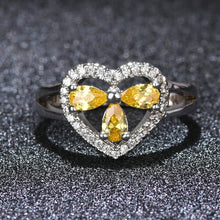 Unique Clover with Sweet Heart design rings,Latest 925 silver environment copper couple wedding ring jewelry - QJ jewelry