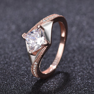 Twist shape Saudi Arabia gold wedding ring silver square ring - QJ jewelry
