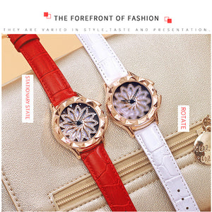 New Rose Gold Watch Woman Quartz Watches Ladies Bracelet Watch Lady 360 Degree Rotation Cool Girl Clock Luxury Relogio Feminino - QJ jewelry