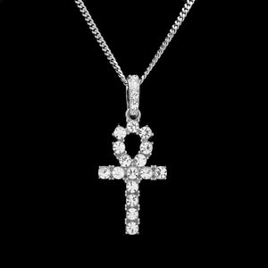 European and American street explosions Egypt Anhe Rhinestone key pendant nightclub hip hop men and women necklace - QJ jewelry