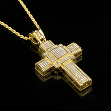 New hip hop men's diamond cross pendant necklace wholesale icedout - QJ jewelry