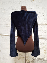 Load image into Gallery viewer, Small Pixie Velour Crop Hoodie