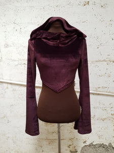 Small Pixie Velour Crop Hoodie