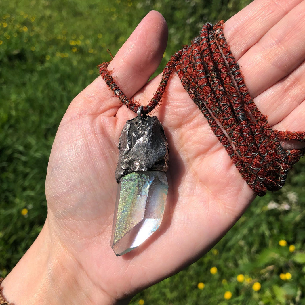 Angel Aura Quartz Amulet