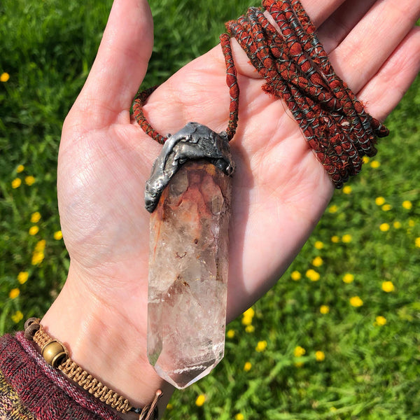 Angel Wing Quartz Amulet