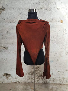Scorched Earth Pixie Wrap Top