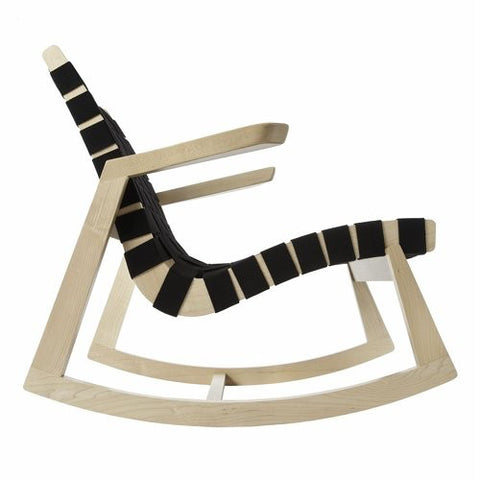 Ralph Rapson Greenbelt Rocker Black Cotton Maple Wood