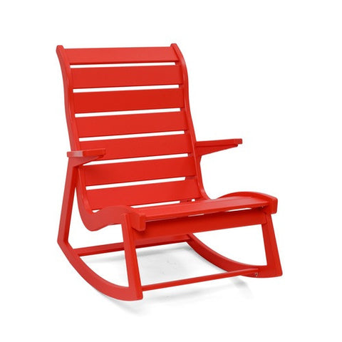 Ralph Rapson Highback Rocker Loll Designs Apple Red
