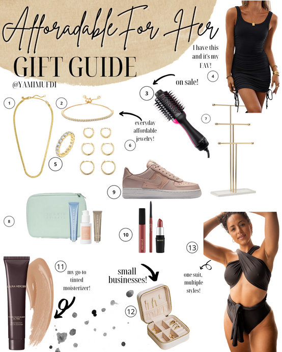 Affordable Holiday Gift Guide for Her 2020