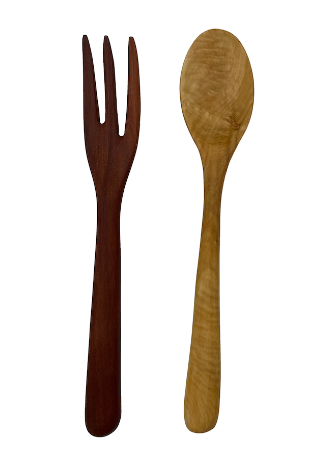 Handmade mix & match wood cutlery set