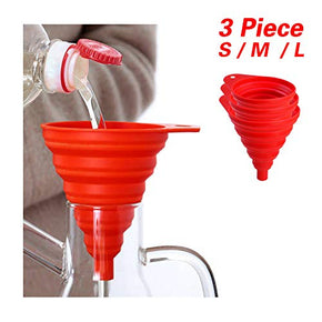 Snowyee Collapsible Bottle Silicone Kitchen Funnels for Water Bottle ( 3 in 1 set )