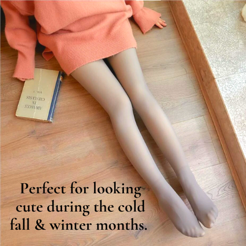 translucent tights with fleece are perfect for wearing in the fall and winter - living a sweeter life