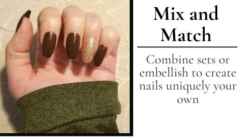 coffin shaped nails can be mixed and matched - living a sweeter life