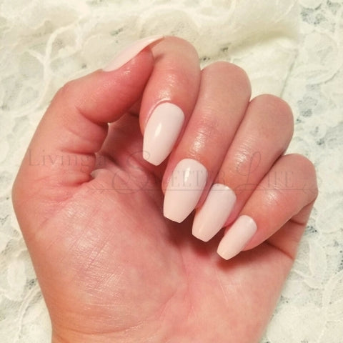 ballerina nails in light pink color - living a sweeter life