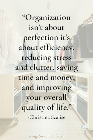 how to get your life together - become more organized - living a sweeter life blog