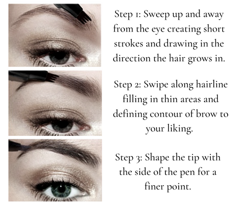 how to use a microblading eyebrow pen - living a sweeter life