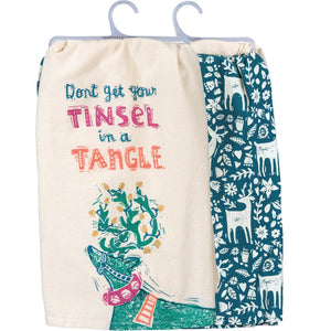 Tea Towel-Don't Get Your Tinsel In A Tangle