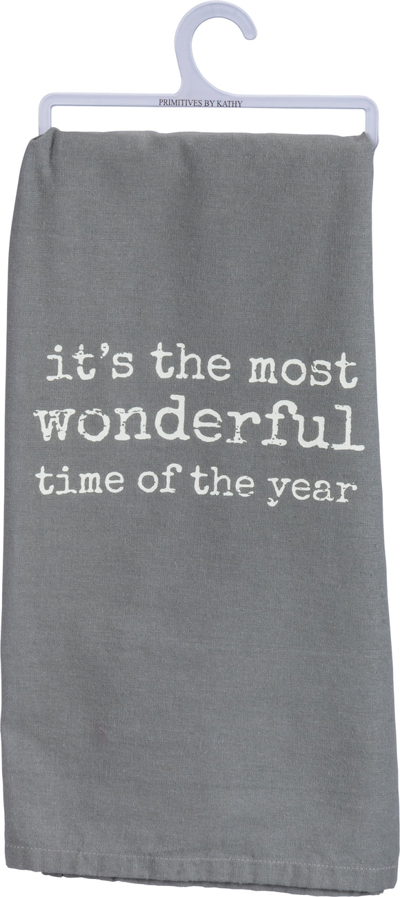 Tea Towel-It's The Most Wonderful Time Of The Year