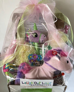 Sparkle & Rainbow Unicorn Basket