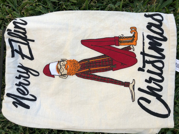 Tea Towel: Merry Elfin Christmas