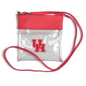 University of Houston Game Day Clear Crossbody Bag with Red Tassle