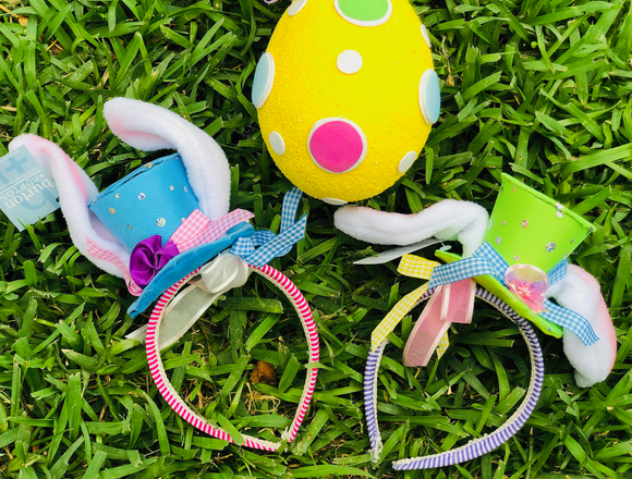 Mad Hatter Easter Bunny Headband