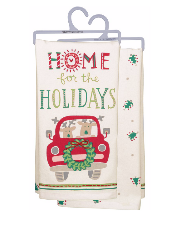 Tea Towel - Home For The Holidays