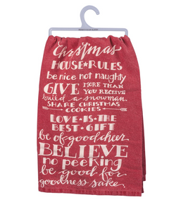 Tea Towel - Christmas Rules