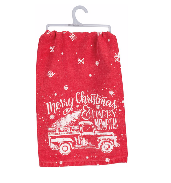 Tea Towel - Merry Christmas & Happy New Year