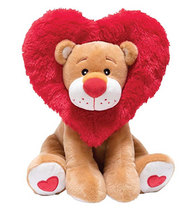 Lion Heart is an adorable lion animated plush that sings and dances for you. He has a red fur heart of hair around his head and is ready to express his roar-some love for you! Lion heart is the perfect Valentine's Day gift.