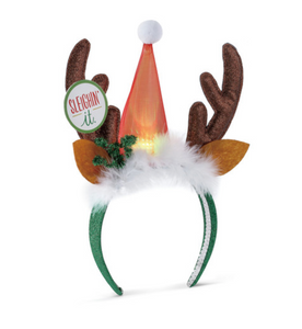 Lit Reindeer - Holiday Headband