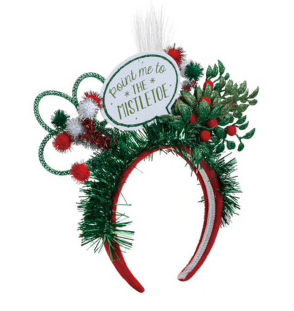 Point Me To The Mistletoe - Light Up Holiday Headband