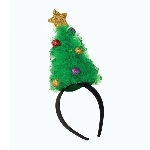 Christmas Tree Tulle Headband Holiday Accessory-Festive Fun Collection