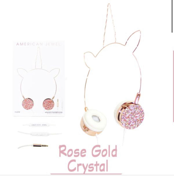 Rose Gold Unicorn Headphones
