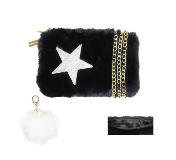 Faux Furry Purse