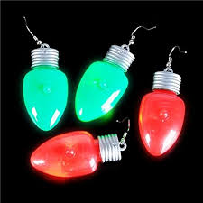 Christmas Light Up LED Flashing Earrings