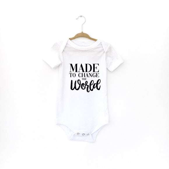 Made To Change The World Baby Onesie