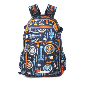 Smily Teen backpack Future Orange & Blue