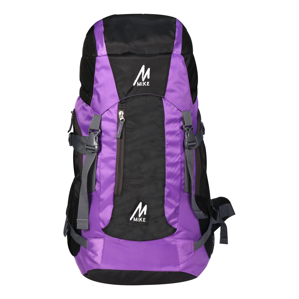 MIKE 65L Hiking Backpack- Purple and Black
