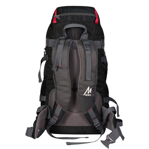 Image of Mike 65 L Hiking Bag - Pink and Black