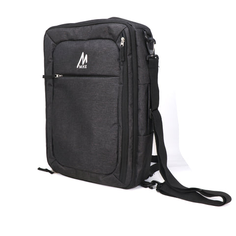 Mike Convertible Laptop Bag - Black
