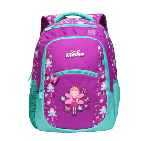 Image of Smily Dual Color Backpack Fairy Theme Purple