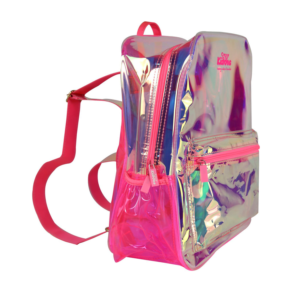 Fancy Translucent Backpack Pink