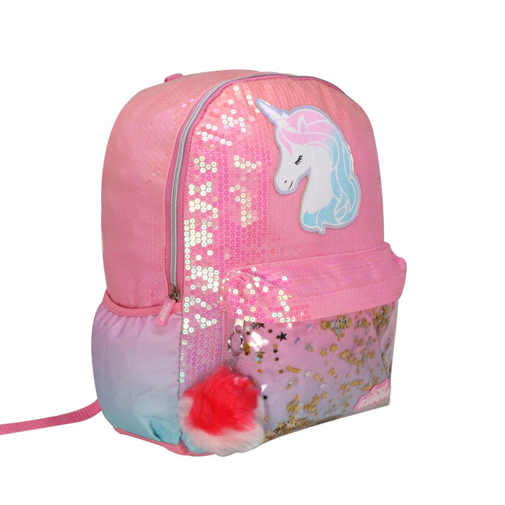 Unicorn Charm Backpack For Girls - Pink