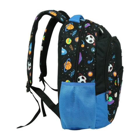 Image of Smily Dual Color Backpack Space Theme Black
