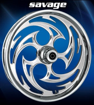 RC Savage Wheels (Chrome)