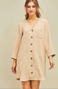 When in Rome Tunic Dress - Sand - Latitudes Boutique